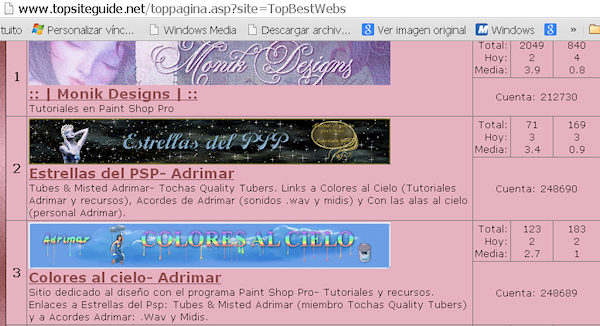 2do y 3er Puesto- TOP BEST WEBS