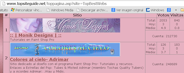 2do Puesto- TOP BEST WEBS